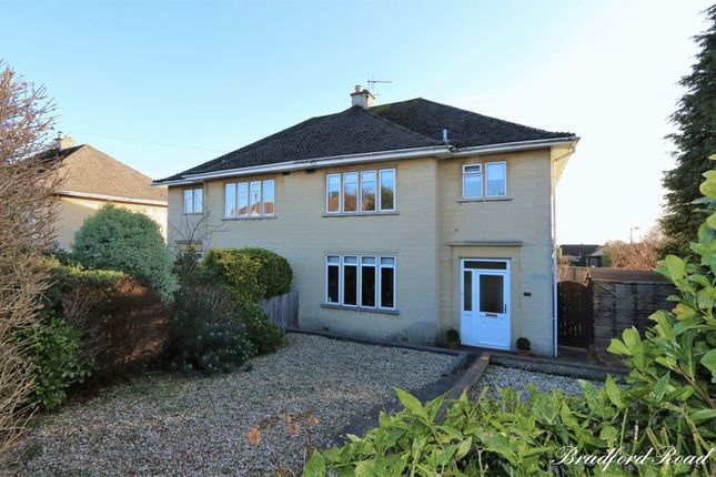Thumbnail Semi-detached house for sale in Bradford Road, Combe Down, Bath