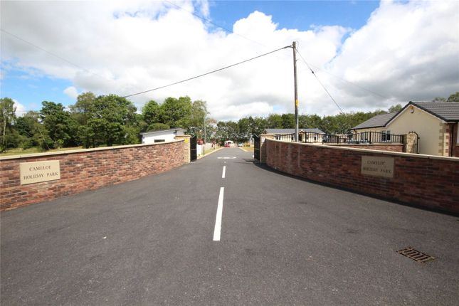 Gated Entrance of St David, Camelot Holiday Park, Longtown, Carlisle, Cumbria CA6
