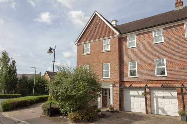 Thumbnail End terrace house for sale in Elvetham Crescent, Fleet