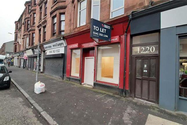 Thumbnail Retail premises to let in 1222, Shettleston Road, Glasgow
