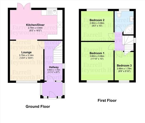 Floor Plan of Ascot Road, Thornton Cleveleys FY5