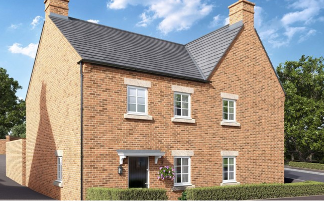 Thumbnail Semi-detached house for sale in Newport Pagnell Road, Wootton Fields, Northamptonshire