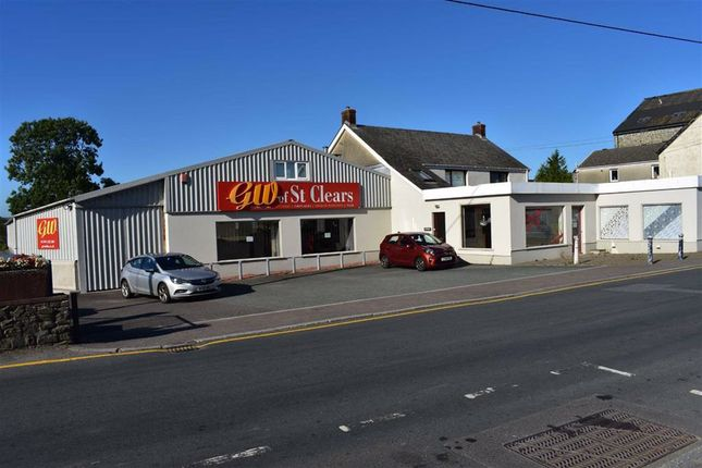 Thumbnail Retail premises for sale in St. Clears, Carmarthen