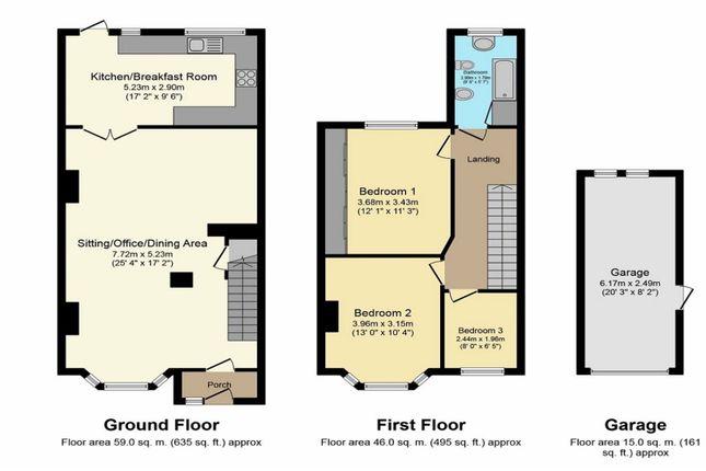 Floor Plan of Albert Crescent, Holbrooks, Coventry CV6