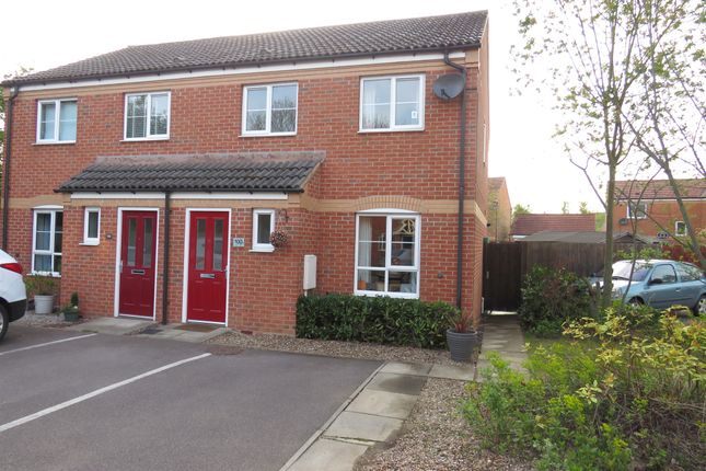 Thumbnail 3 bed semi-detached house for sale in Clover Way, Syston, Leicester