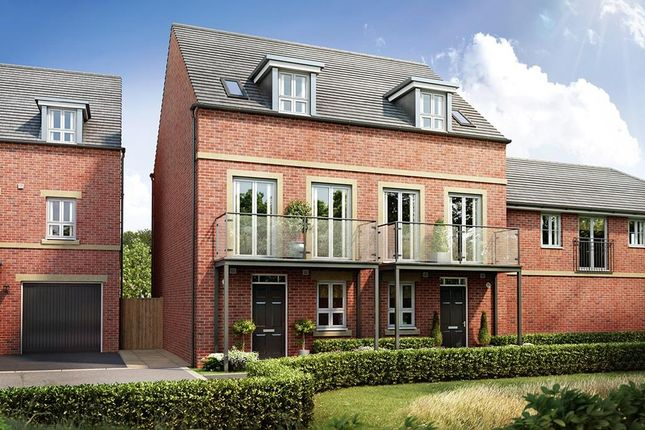 "Thumbnail Semi-detached house for sale in ""Greenwood"" at Fetlock Drive, Newbury"
