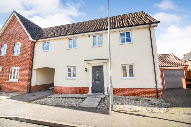 Thumbnail Link-detached house for sale in Field Acre Way, Long Stratton, Norwich
