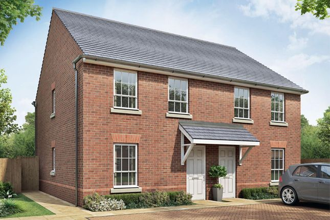 """Thumbnail Semi-detached house for sale in """"Finchley"""" at Beggars Lane, Leicester Forest East, Leicester"""