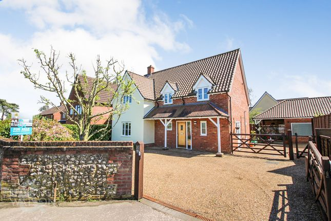 Thumbnail Detached house for sale in The Turnpike, Bunwell, Norwich