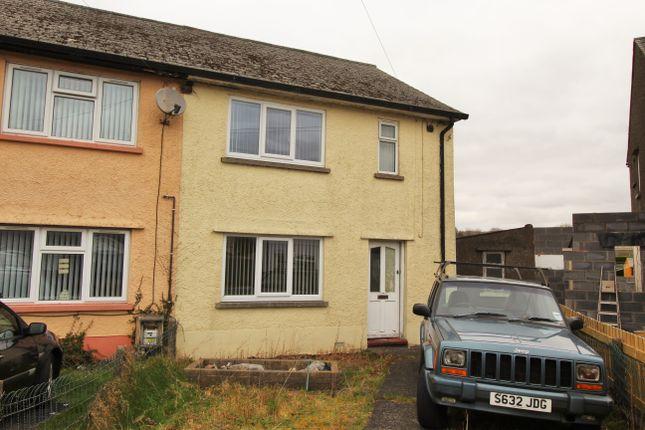 Thumbnail Semi-detached house for sale in Min Y Rhos, Ystradgynlais, Swansea
