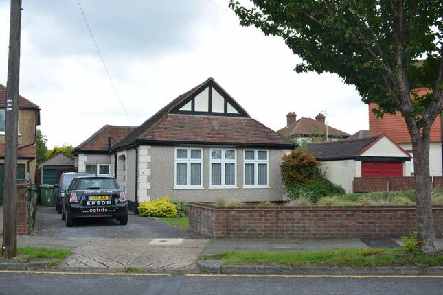 Thumbnail Detached bungalow to rent in Calverley Road, Stoneleigh, Epsom