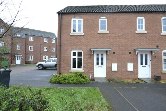 Thumbnail End terrace house for sale in St Athan Close Kingsway, Quedgeley, Gloucester, Gloucestershire