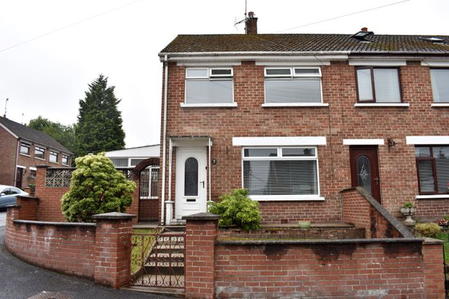 Thumbnail End terrace house for sale in Brookvale Rise, Lisburn