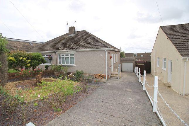 Thumbnail Semi-detached bungalow to rent in Derwen Close, Litchard, Bridgend.