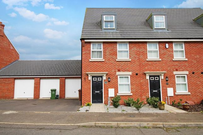 Thumbnail End terrace house to rent in Clarendon Close, Corby
