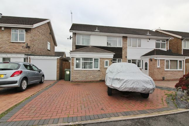 Thumbnail Semi-detached house for sale in Alvington Close, Willenhall