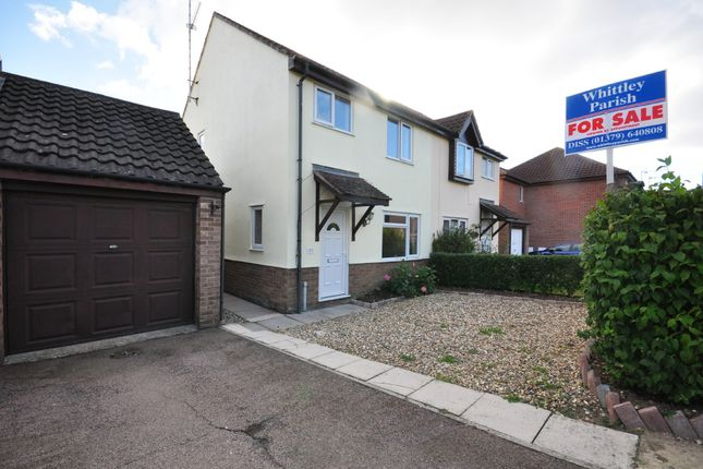 Thumbnail Semi-detached house for sale in Cobbold Street, Roydon, Diss