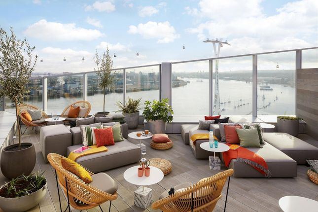 Roof Terrace of No.2, Upper Riverside, Cutter Lane, Greenwich Peninsula SE10