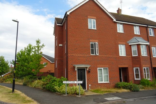 Thumbnail End terrace house to rent in Shropshire Drive, Stoke Village, Coventry