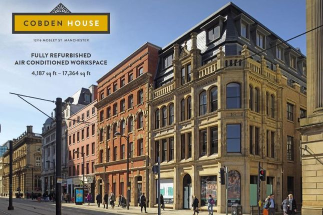 Office to let in Cobden House, 12-16 Mosley Street, Manchester