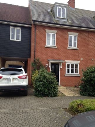 Thumbnail Town house to rent in Demoiselle Crescent, Ipswich, Suffolk
