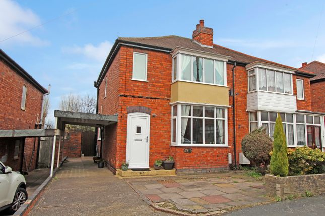 Thumbnail Semi-detached house for sale in Barcliffe Avenue, Glascote, Tamworth