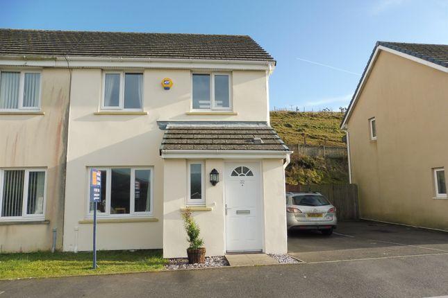 Thumbnail Semi-detached house for sale in Heol Llwynffynon, Llangeinor, Bridgend
