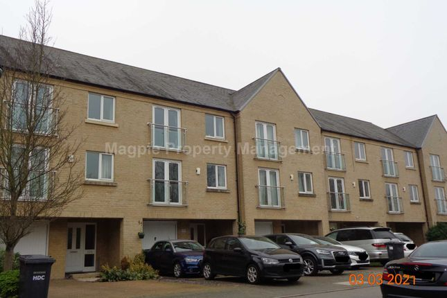 Thumbnail Town house to rent in Skipper Way, Little Paxton, St Neots
