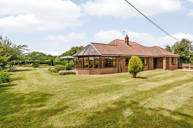 Thumbnail Detached bungalow for sale in Intwood Lane, East Carleton, Norwich
