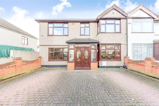 Thumbnail End terrace house for sale in Rothbury Avenue, Rainham