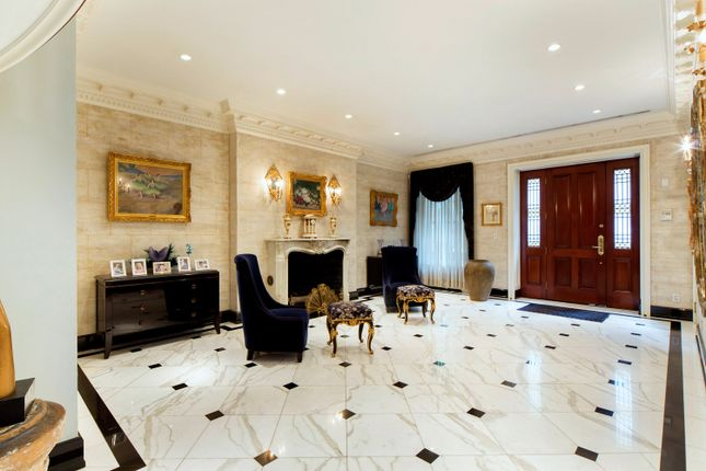 Entrance Foyer With Marble Floor, Fireplace And Original Details