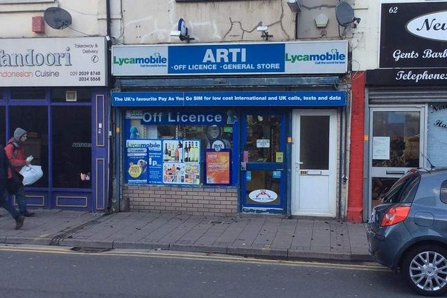 Thumbnail Retail premises for sale in 64 Cowbridge Road East, Cardiff