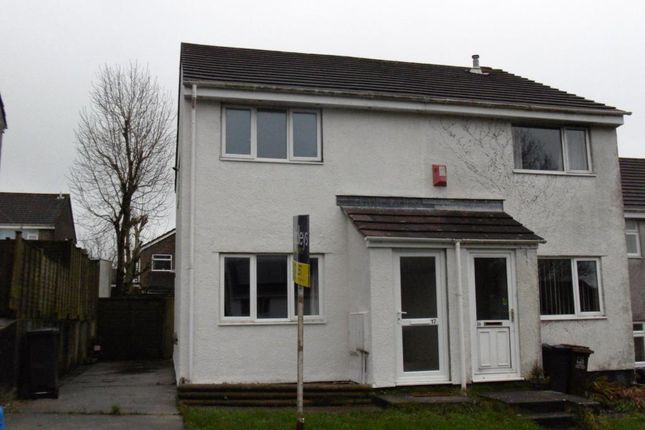 Thumbnail Semi-detached house to rent in Dunsterville Road, Ivybridge, Plymouth, Devon
