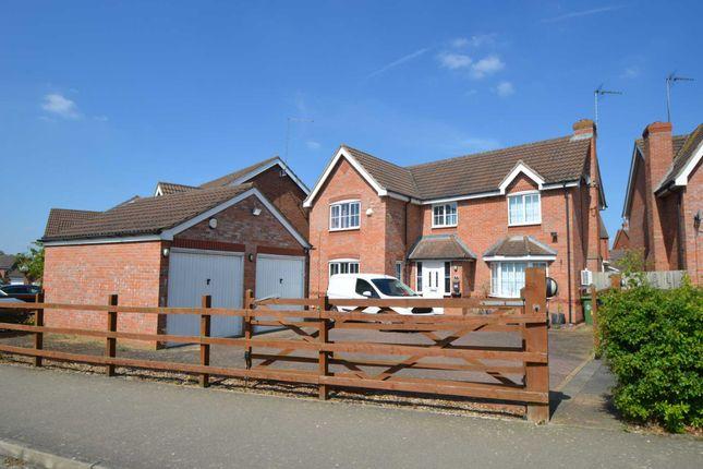 Thumbnail Detached house for sale in Foxfield Way, Grange Park, Northampton