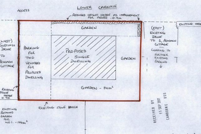 Thumbnail Land for sale in 1 Pencarne Cottage, Lower Carnkie