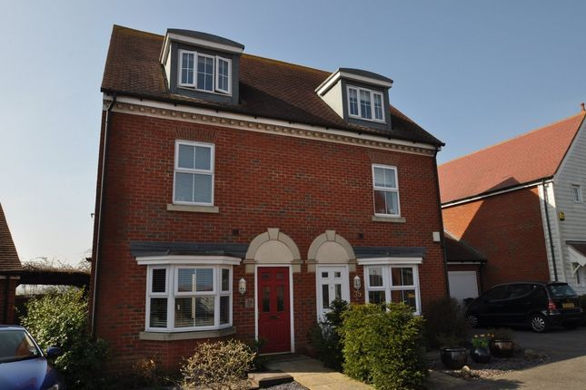 Thumbnail Semi-detached house to rent in Hedgers Way, Kingsnorth, Ashford
