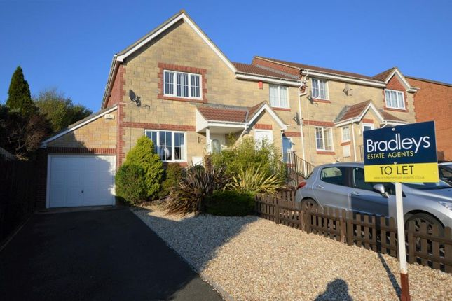 Thumbnail 3 bed end terrace house to rent in Lower Ridings, Plymouth, Devon