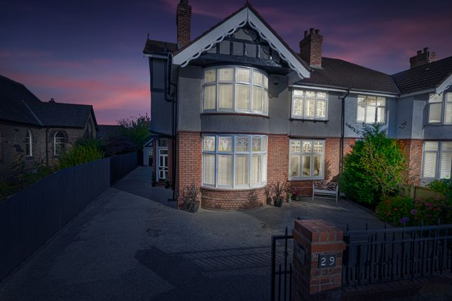 Thumbnail Semi-detached house for sale in Higher Knutsford Road, Stockton Heath, Warrington