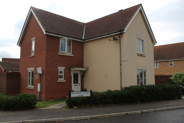 Thumbnail Detached house for sale in Broomley Green Lane, Bury St. Edmunds