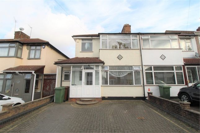 Thumbnail End terrace house to rent in Lawrence Crescent, Edgware, Middlesex