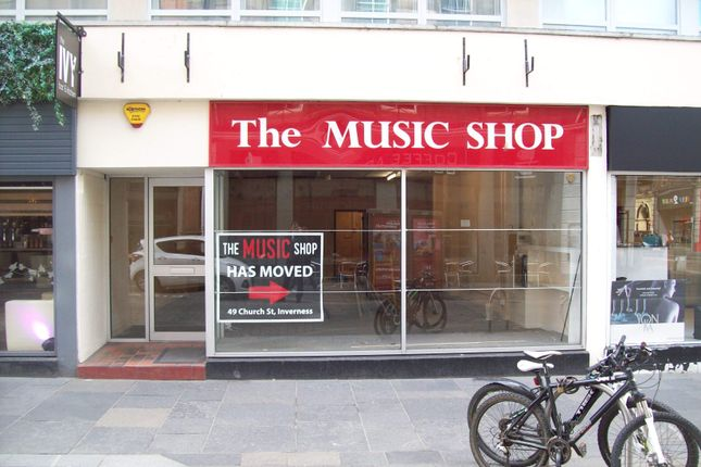 Thumbnail Retail premises to let in 27 Church Street, Inverness