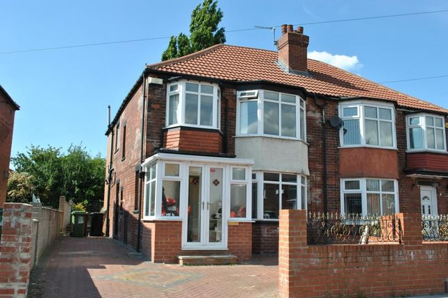 Thumbnail Semi-detached house to rent in Lawrence Avenue, Oakwood, Leeds