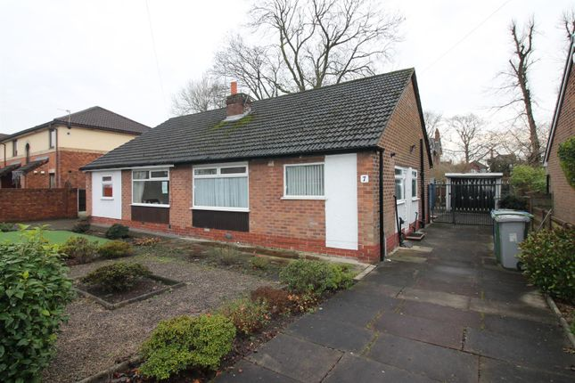 Thumbnail Semi-detached bungalow for sale in Highbury Avenue, Flixton, Urmston, Manchester