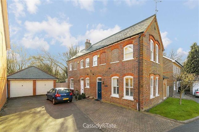 Thumbnail Semi-detached house for sale in Ashwood Mews, St Albans, Hertfordshire