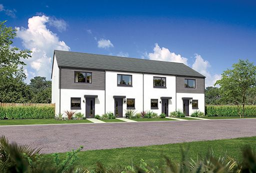 "Thumbnail Terraced house for sale in ""Aversley Mid"" at Whitehills Gardens, Cove, Aberdeen"