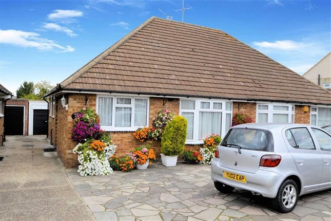 Thumbnail Semi-detached bungalow for sale in Alderwood Drive, Abridge, Romford