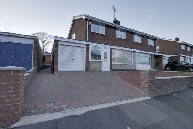 Thumbnail Semi-detached house for sale in Mount Park Drive, Lanchester, Durham