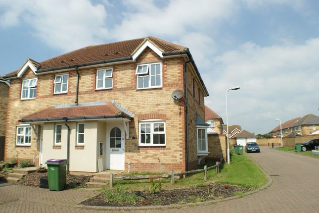 Thumbnail Semi-detached house to rent in Grice Close, Hawkinge