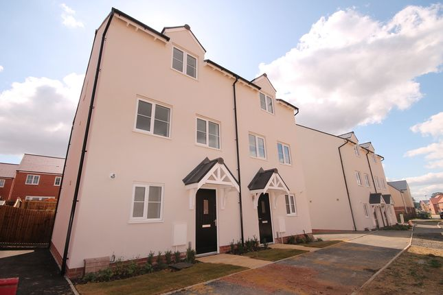 Thumbnail Town house for sale in St. James Way, Biddenham, Bedford