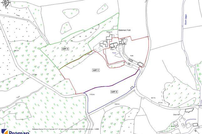 Sale Plan of Bateman Fold House, Crook, Lake District, Cumbria LA8